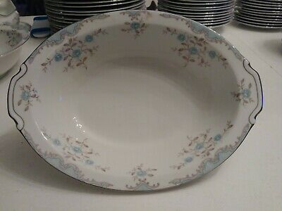 """""""PHOEBE"""" OVAL SERVING BOWL BY NARUMI  PORCELAIN CHINA Discontinued pattern!"""