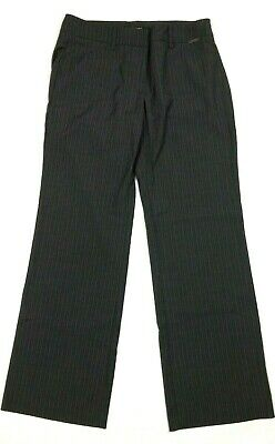 NEW YORK & COMPANY Women's Pants Sz 4 Petite Charcoal Gray Pinstripe Stretch