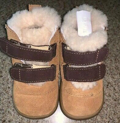 4e8db134c8c UGG AUSTRALIA LEMMY Boots Booties Infant Baby Boy Girl Shearling ...