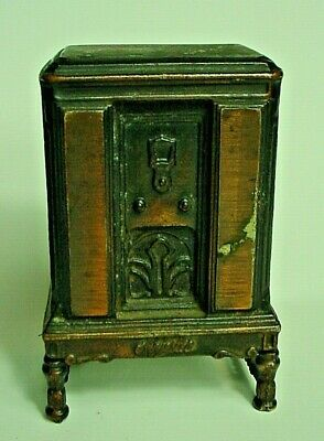 Antique Cast Iron Majestic Floor Model Radio Bank-Excellent & Guaranteed Old