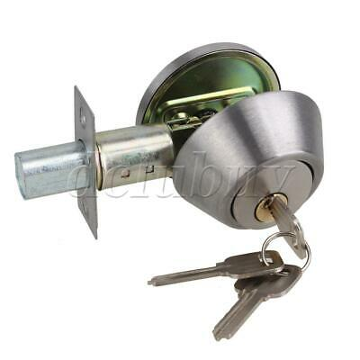 Steel Single Cylinder Dead Bolt DeadBolt Door Lock Polished Chrome for Doors