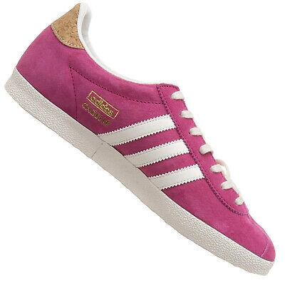 Adidas Originals Gazelle Og Trainers M19557 Suede Shoes Pink White Cork