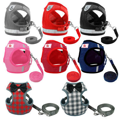 Cat Walking Jacket Harness & Leash Small Dog Pet Puppy Kitten Vest Clothes XS-L
