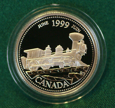 1999 CANADA Millennium Sterling Silver Quarter for June in proof finish