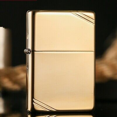 High Polish Brass 270 Vintage 1937 With Slashes Zippo Lighter - AU STOCK