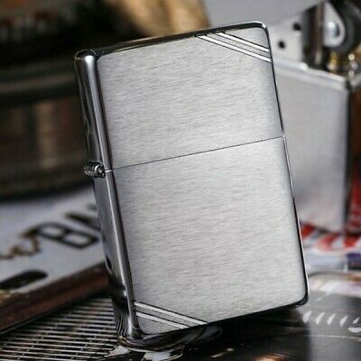 Silver Vintage Look 1937 230 with Slashes Zippo Lighter - AU STOCK