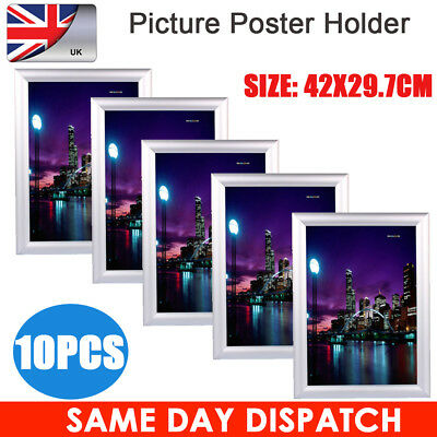 10PCS A3 Snap Frames Poster Clip Holders Displays Retail Wall Notice Boards