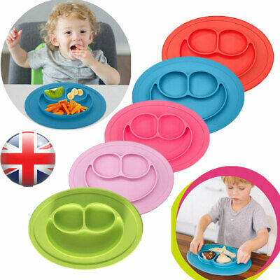 Cute Bowl Silicone Mat Baby Kids Child Suction Table Food Tray Placemat Plate