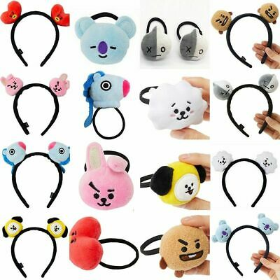 BTS Plush Headband Hair Tie Band TATA RJ KOYA COOKY Hair Accessories Tracked