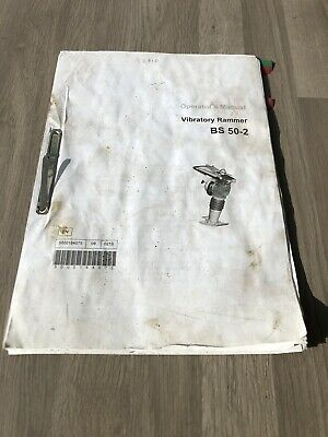 Wacker Neuson  Bs50-2  Upright Rammer Operators Manual Year 2010 Used