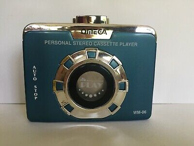 Vintage Omega WM-06 Personal Cassette Player Portable Tape Walkman Style Working
