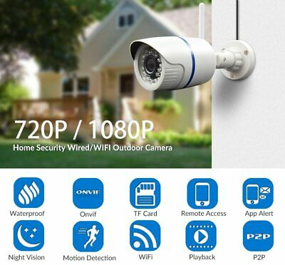 1080P Wifi IP Bullet Waterproof Camera Outdoor Wireless Home Security Camera