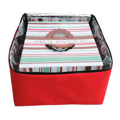 """Portable Pizza Delivery Bag Red Thermal Insulated Oxford Cloth 16"""" Pizzas Pies"""