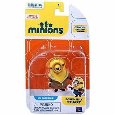 Minions Movie Bored Silly Stuart Poseable Figure ~NEW~
