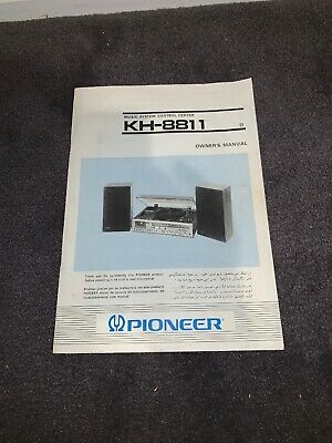 Vintage Instruction / User Manual for Pioneer KH-8811 Record Player