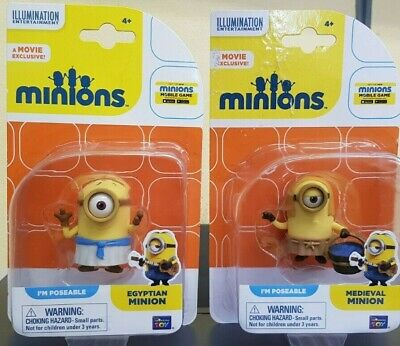 Minions Movie Egyptian & Medieval Minions Poseable Figure ~NEW~