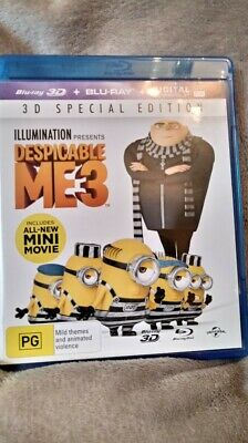 Despicable Me 3 (Blu-ray, 2-Disc Set, 3D AND 2D ) NEW/UNSEALED REGION FREE