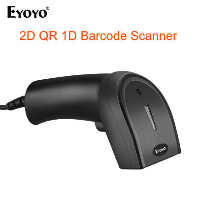 1D 2D QR Wired Barcode Scanner Handheld For Windows Xp/7/8/10 Computer For Store