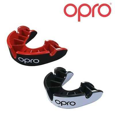 Opro Silver Protector Bucal Twin Pack Niños Adultos Boxeo Rugby Hockey Mma Bucal
