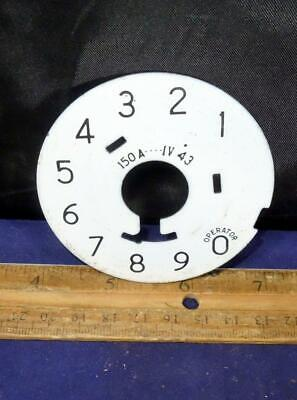 Western Electric Telephone Porcelain Dial Plate For 5H Dial 1943 150A