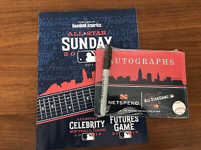 2019 MLB All Star Sunday FUTURES GAME PROGRAM + Autograph Book WANDER FRANCO 🔥