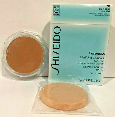 Shiseido Pureness Matifying Compact Oil-Free Foundation (Refill) 20 Light Beige