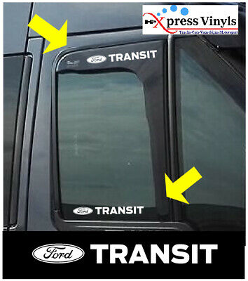 Ford transit decals x 2.  window graphic stickers connect custom
