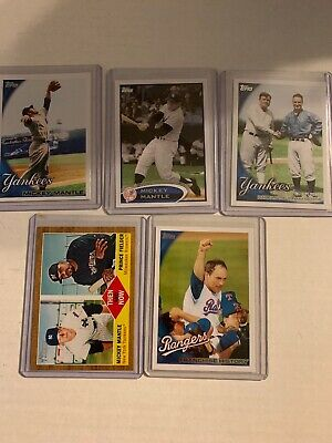 LOT of 5 2010 TOPPS #7 MICKEY MANTLE,Nolan Ryan And Babe Ruth