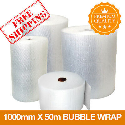 1 ROLL SMALL BUBBLE WRAP ROLL 1000mm WIDE x 50 METRES LONG PACKAGING CUSHIONING