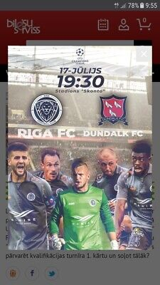 Dundalk V Riga Fc,Champions League,10Th July 2019,Mint Sell Out