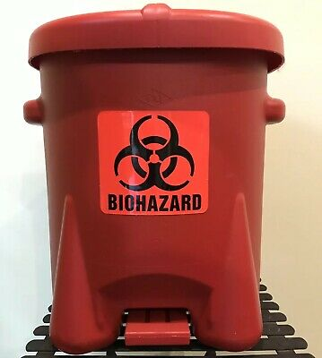 EAGLE 943BIO Biohazard Step On Waste Container,6 gal.