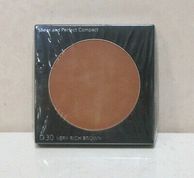 Shiseido Sheer And Perfect Compact Refill D30 Very Rich Brown .35 Oz ***Unboxed
