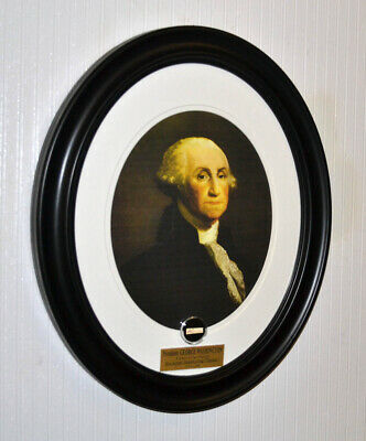 "Rare GEORGE WASHINGTON Signed Autograph in his hand "" THENCE "" Frame, UACC, COA"