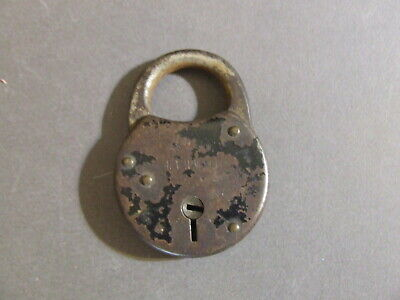 Antique Vintage Mallory Wheeler M.w. Co. New Haven Ct Usa Padlock Lock (No Key)