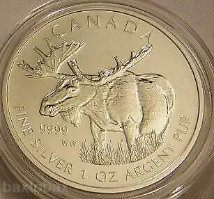 2012 CANADIAN MOOSE One Ounce .9999 SILVER $5 COIN *BU*