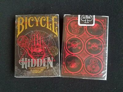 2 new decks of Bicycle Hidden playing cards, USPCC, poker, lot