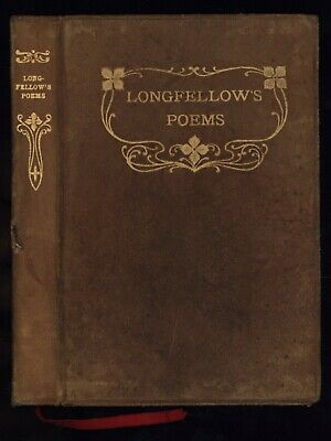 Longfellow - VOICES OF THE NIGHT & OTHER POEMS - Small 1899 Full Leather Copy