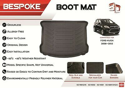 For FORD KUGA 2008-2012 Tailored Rubber Boot Liner Fitted Mat Dog Tray