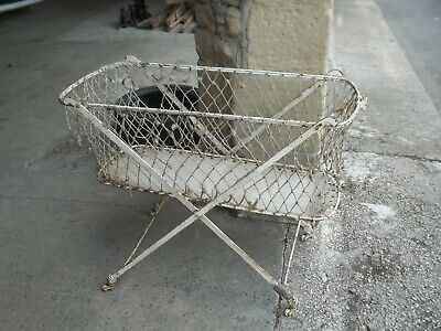 Antique Victorian Hospital Folding Iron Cot, Shop Prop Design Halloween  Spooky