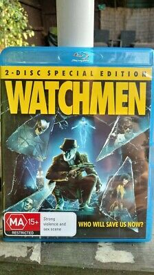 Watchmen (2009) 2 DISC SPECIAL EDITION BLU RAY  REGION FREE NEW/UNSEALED