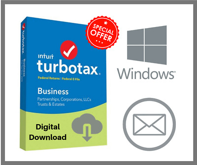 TurboTax Business 2018 For Windows Version Email Delivery 🔥🔥