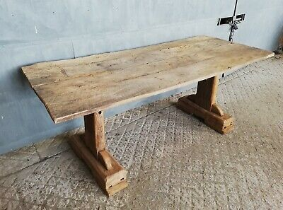 A Reclaimed Rustic Chunky Oak / Elm Garden Table M1299