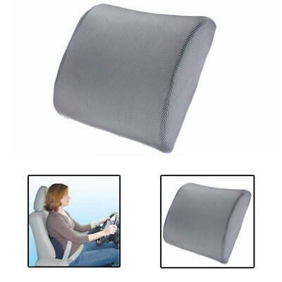 Memory Foam Lumbar Back Support Cushion Pillow for Home Car Auto Seat Gray