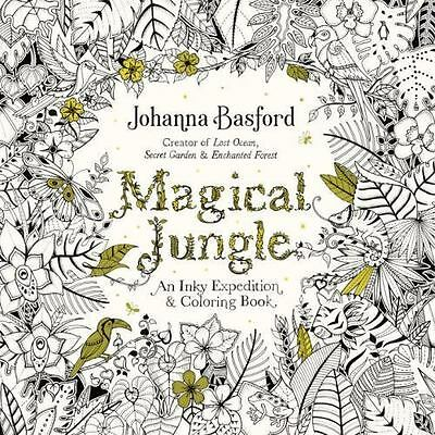 Magical Jungle : An Inky Expedition and Coloring Book by Johanna Basford NEW!