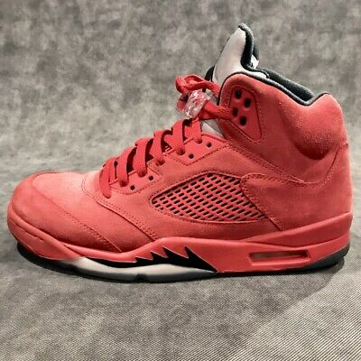 factory authentic 79a1c c0d5f NIKE AIR JORDAN Retro 5 V Red Suede Flight Men's Size 10.5 FREE SHIPPING