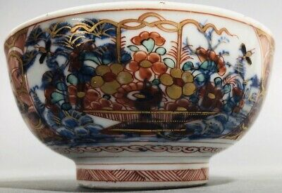 Antique Chinese Imari Amsterdams Bont Clobbered Bowl Kangxi Qianlong 18th C