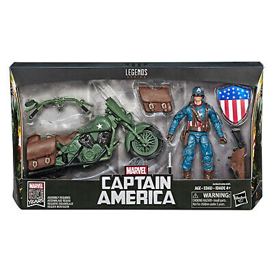 Marvel Legends Captain America and Motorcycle Action Figure 6-Inch 80th IN STOCK