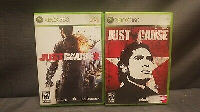 Lot of 2x Games Xbox 360 Just Cause 1 & 2 Video Games