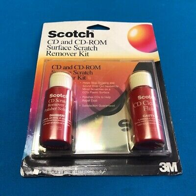 Scotch/3M CD and CD-ROM DVD Surface Scratch Remover Kit circa 1997 NEW/SEALED