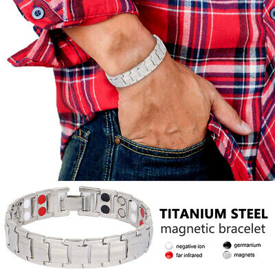 Magnet Therapeutic Bracelet Titanium with 4 elements Energy Strength Pain Relief